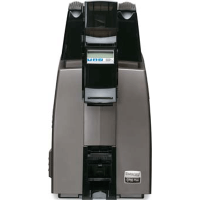 Datacard CP80 PLUS CARD PRINTER video printer with theft-deterrent software and a hardware lock system
