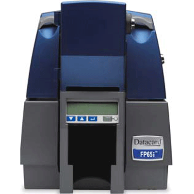 Datacard FP65i FINANCIAL CARD PRINTER video printer with magnetic stripe encoding