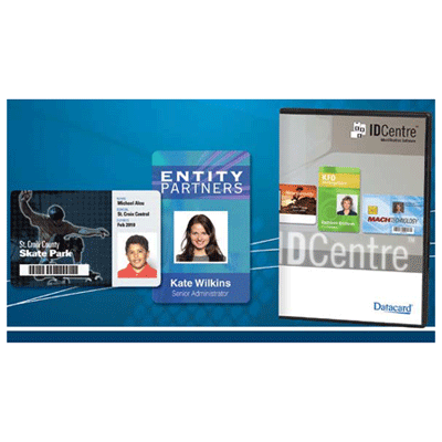 Datacard IDCENTRE BRONZE IDENTIFICATION SOFTWARE access control software with magnetic stripes and print bar codes encoding