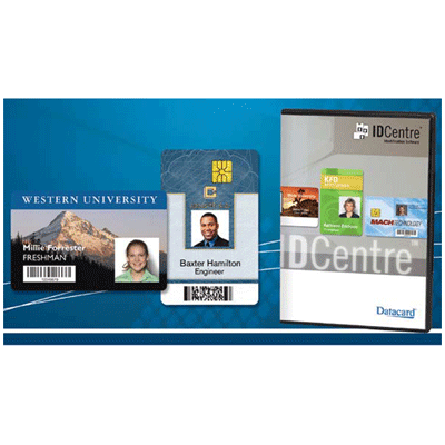 Datacard IDCENTRE SILVER IDENTIFICATION SOFTWARE access control software with support to smart cards with a proximity card plug-in.