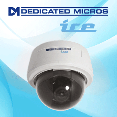 Dedicated Micros DM/ICEDVC-CMU39 dome camera with flexible mounting options