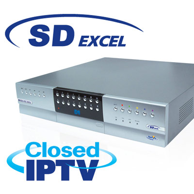 Dedicated Micros SD Excel a premium enterprise, hybrid DVR/NVR with Closed IPTV capability