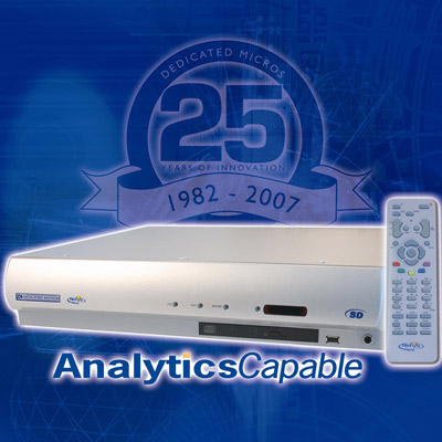 Dedicated Micros SD32 M30 with 30 days recording capacity and 32 video inputs