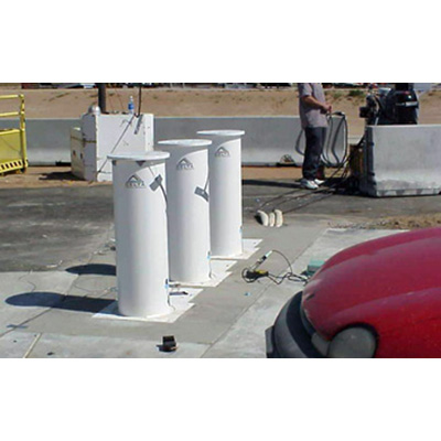 Delta Scientific DSC701-1M manual bollard barricade system