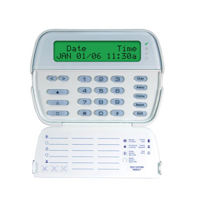 DSC RFK5500 PowerSeries 64-Zone LCD full-message keypad with built-In wireless receiver, 32 zones