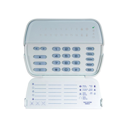 DSC RFK5516 PowerSeries 16-zone LED keypad with built-In wireless receiver