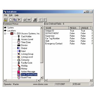 DSX Database Management API Access Control Software