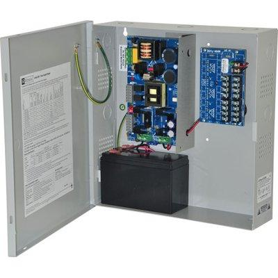 Altronix EFlow102N8D Power Supply Charger, 8 PTC Class 2 Outputs, 12VDC @ 10A, Aux Output, FAI, LinQ2 Ready, 115VAC, BC300 Enclosure
