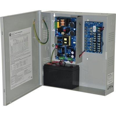 Altronix eFlow102N8V Power Supply Charger, 8 Fused Outputs, 12VDC @ 10A, Aux Output, FAI, LinQ2 Ready, 220VAC, BC300 Enclosure
