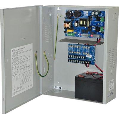 Altronix eFlow102NX8 Power Supply Charger, 8 Fused Outputs, 12VDC @ 10A, Aux Output, FAI, LinQ2 Ready, 115VAC, BC400 Enclosure