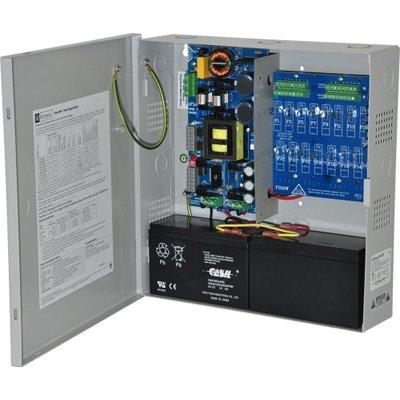 Altronix EFlow104N16D Power Supply Charger, 16 PTC Class 2 Outputs, 24VDC @ 10A, Aux Output, FAI, LinQ2 Ready, 115VAC, BC300 Enclosure