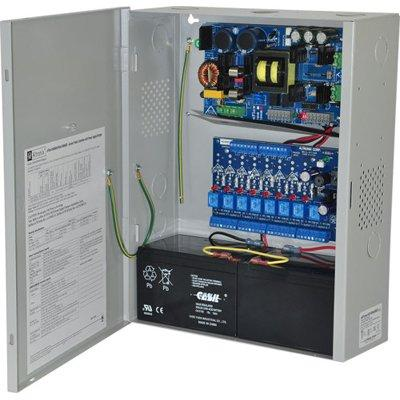 Altronix eFlow104NA8D Access Power Controller w/ Power Supply/Charger, 8 PTC Class 2 Relay Outputs, 24VDC @ 10A, Aux Output, FAI, 115VAC, BC400 Enclosure