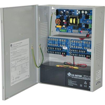 Altronix eFlow104NX16V Power Supply Charger, 16 Fused Outputs, 24VDC @ 10A, Aux Output, FAI, LinQ2 Ready, 220VAC, BC400 Enclosure