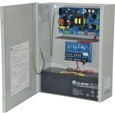 Altronix eFlow104NX8DV Power Supply Charger, 8 PTC Class 2 Outputs, 24VDC @ 10A, Aux Output, FAI, LinQ2 Ready, 220VAC, BC400 Enclosure