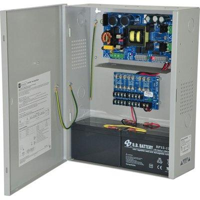 Altronix EFlow104NX8V Power Supply Charger, 8 Fused Outputs, 24VDC @ 10A, Aux Output, FAI, LinQ2 Ready, 220VAC, BC400 Enclosure