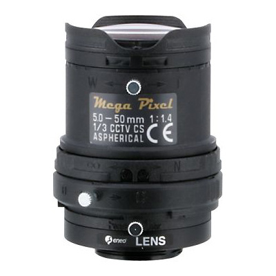 eneo F05Z10M-MP megapixel lens with 5 ~ 50 mm focal length
