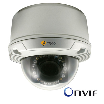 Megapixel network dome with ONVIF compatibility for easy integration in IP video surveillance systems from eneo