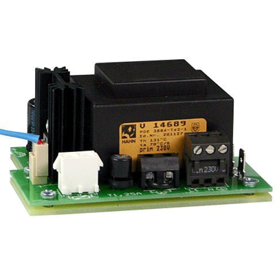 eneo NE-112 power supply and battery with connections for thermostat, heater and ground