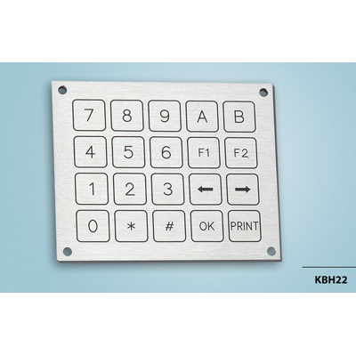 Everswitch KBH22 Piezoelectric keypad from Baran Advanced Technologies