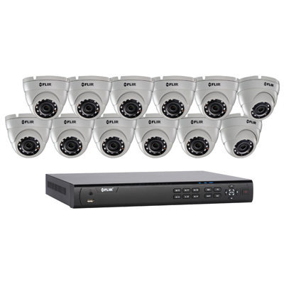 FLIR Systems DN4163E12 12 Cameras, 16 Channels, 3TB HDD NVR System