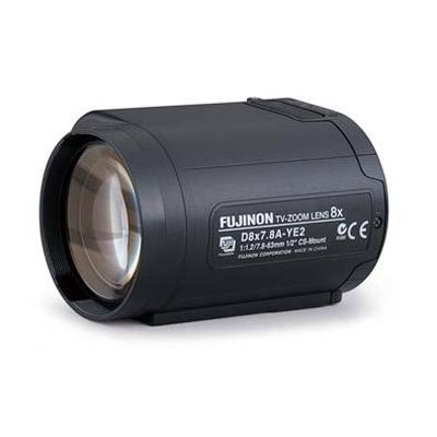 Fujinon D8X7.8A-YE2 CCTV camera lens with motorised zoom
