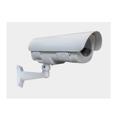 Ganz GH-FW230 CCTV camera housing with cable managed bracket, sunshield and heater
