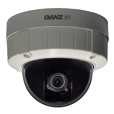 Ganz ZN-DT1MA dome camera with web interface for live viewing and configuration