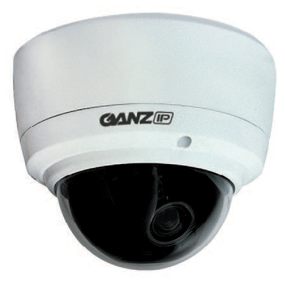 Ganz ZN-DT350VPE 550 TVL impact resistant H.264 colour IP dome camera