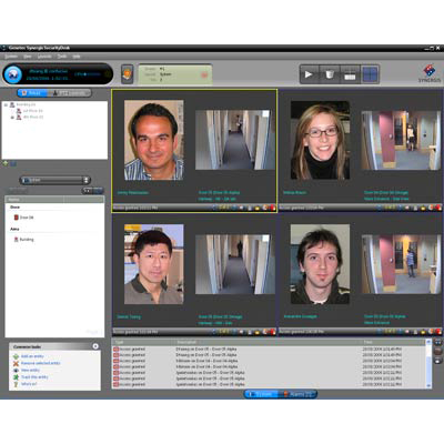 Genetec's IP access control solution integrates several security functions into one simple interface