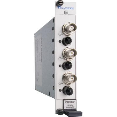 Geutebruck CRR-103 3-channel composite video fibre optic receiver module