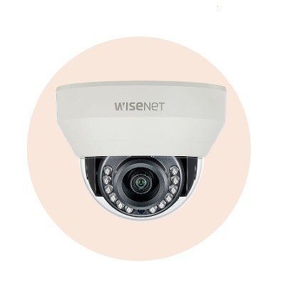 Hanwha Techwin America HCD-7010R 4MP Wisenet HD+ Indoor Dome Camera