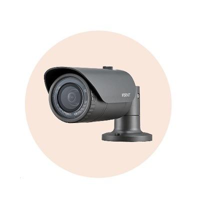 Hanwha Techwin America HCO-7010R 4MP Wisenet HD+ Bullet Camera