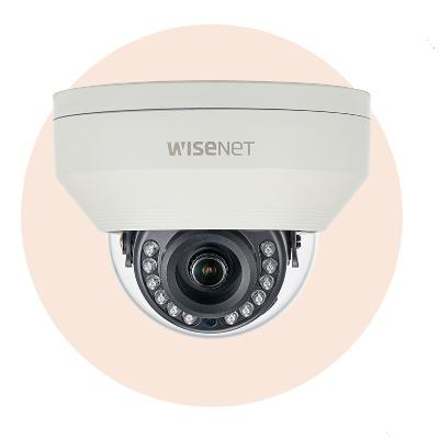 Hanwha Techwin America HCV-7030R QHD (4MP) Analogue Vandal-Resistant IR Dome Camera