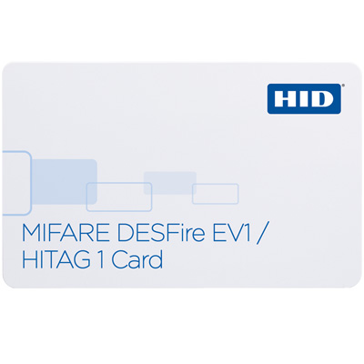 HID 1451 MIFARE DESFire multi-technology contactless card with HITAG