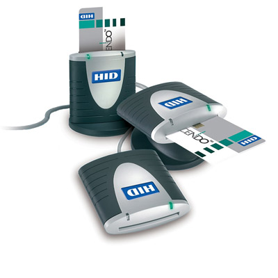 HID Crescendo Smart Card Reader offers long life (100,000 insertions) and a 2-year warranty