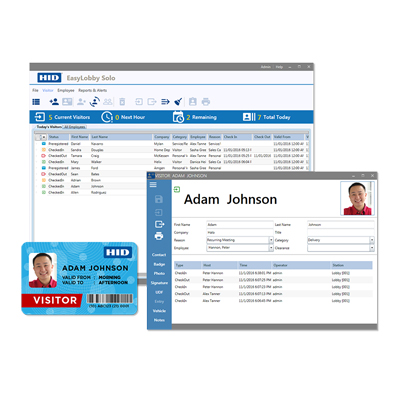 HID EasyLobby Solo professional visitor management software