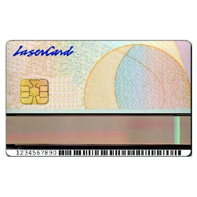 HID LaserCard OSM Card optical security media for unsurpassed security