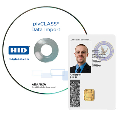 HID pivCLASS Data Import software application of extraction of credential information