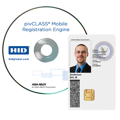 HID pivCLASS Mobile Registration Engine software application