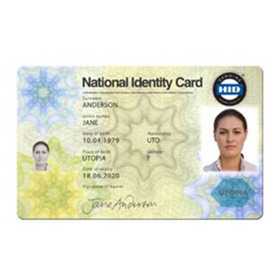 HID Polycarbonate ID Card Laminated E-ID Card