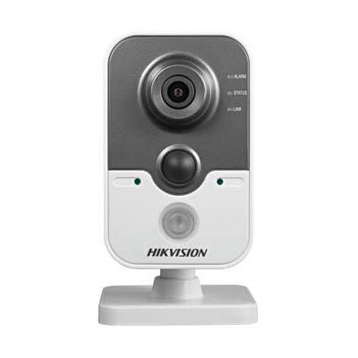 Hikvision DS-2CD2410F-I(W) 1MP IR cube network camera with up to 10m IR