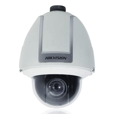 Hikvision DS-2DF1-506 dome camera with OSD and clock display