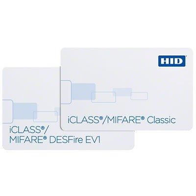 HID iCLASS® + MIFARE® Classic or MIFARE® DESFire® EV1232, 242 & 243 multi-technology smart card