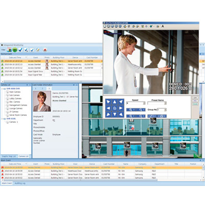 Integration of Access Control System (Controller, Reader) and Video Surveillance System (DVR, CCTV)