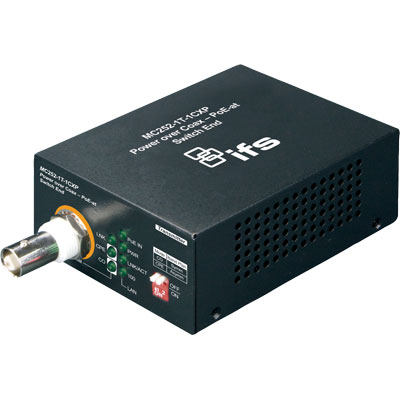 IFS MC252-1P-1CX power over coax media converter