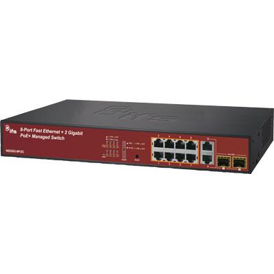 IFS NS2503-8P2C 8-Port Fast Ethernet PoE-af/at Managed Switch
