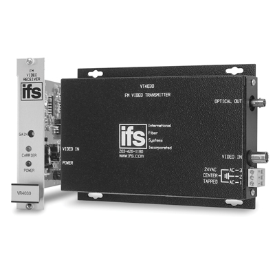 IFS VT/VR4000 Series FM Video Transmitter and Receiver