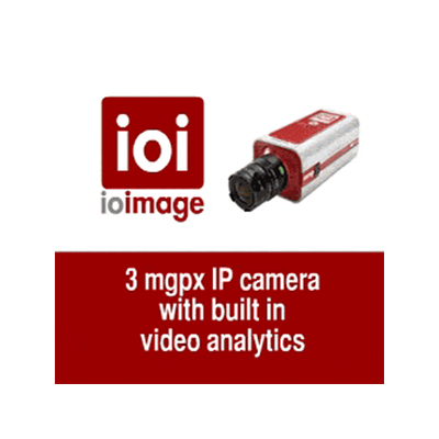 ioimage have launched a new 3-megapixel IP camera with high-performance video analytics built in