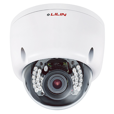 LILIN IPR6122X full HD 2 megapixel vandal resistant dome IR IP camera