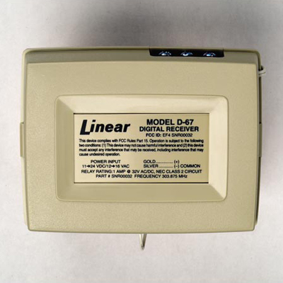 Linear D-67 1-channel receiver